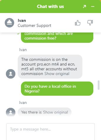 Alpari Chat Support