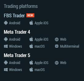 FBS Trading Platform
