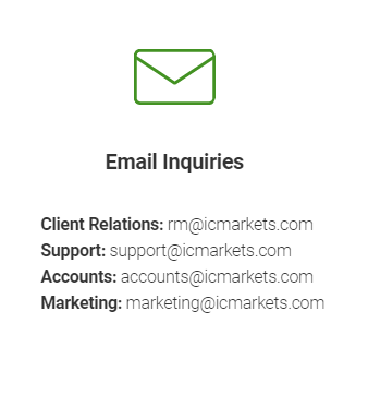 IC Markets Email contact