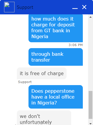 Pepperstone Chat Support